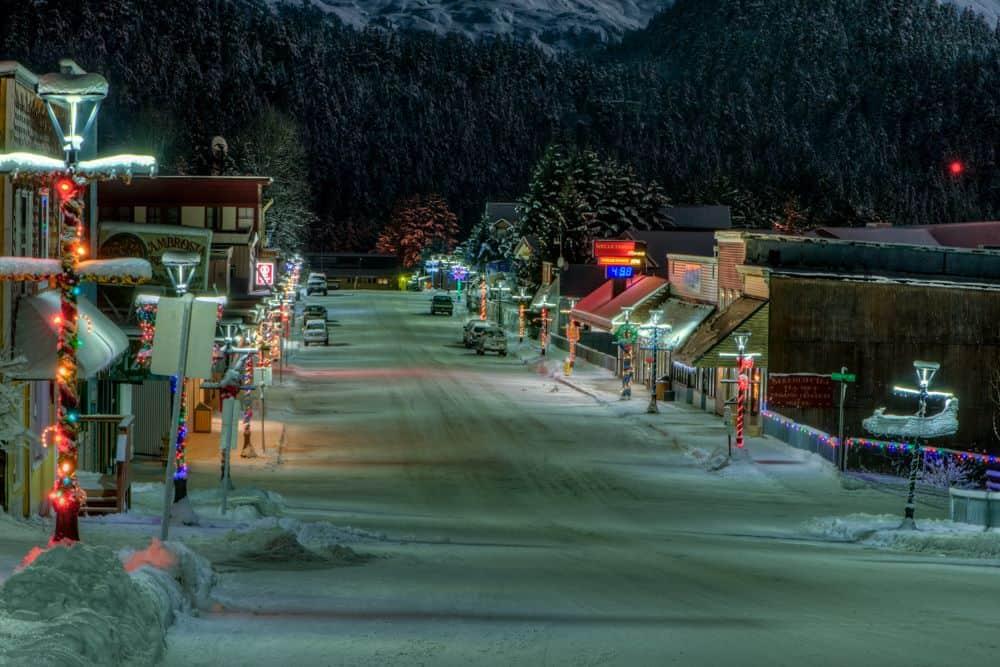 David Little Main Street at night